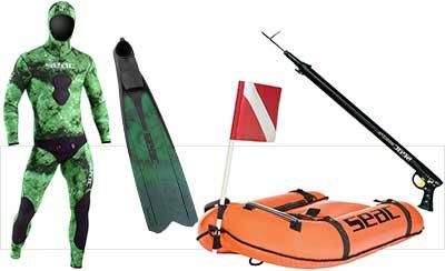 Echipamente pentru pescuit subacvatic si scufundari in apnee
